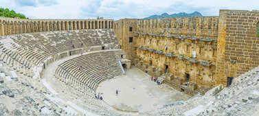 Architecture of Aspendos amphitheater