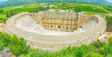 Aspendos amphitheater from the top