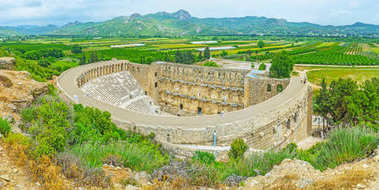 The ancient city of Aspendos