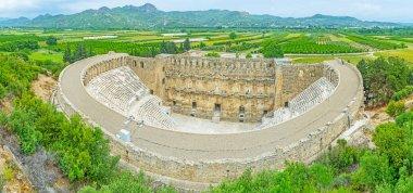 Aerial view of Aspendos amphitheater