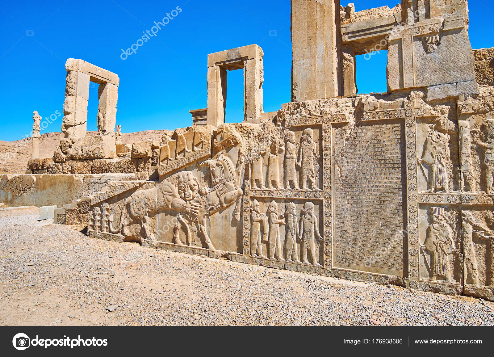Ancient Art In Persepolis Iran Stock Photo C Efesenko 176938606