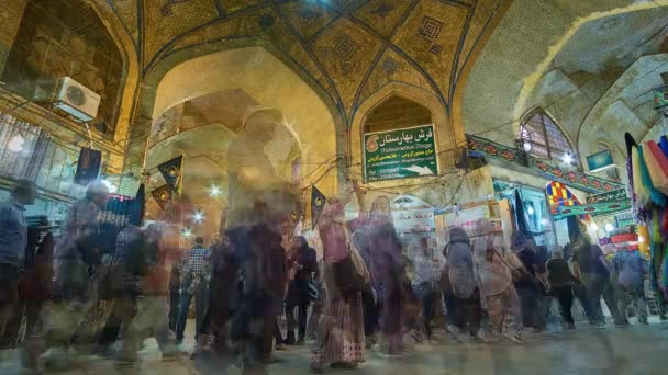 SHIRAZ, IRAN - OCTOBER 12, 2017: Crowded Vakil Bazaar is notable city landmark, preserved since Middle Ages and offering different goods - carpets, fabrics, spices, metalware, on October 12 in Shiraz.