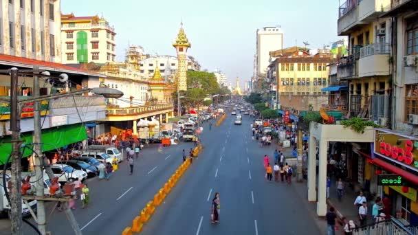 Yangon Myanmar February 2018 Daily Activity Maha Bandula Road View — Stock  Video © efesenko #187141928