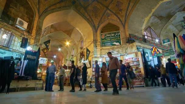 SHIRAZ, IRAN - OCTOBER 13, 2017: Crowded Vakil Bazaar is notable city landmark, preserved since Middle Ages and offering different goods - carpets, fabrics, spices, metalware, on October 13 in Shiraz.