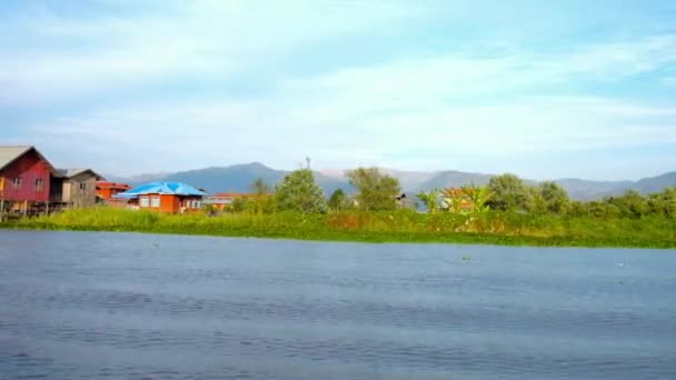 INLE LAKE, MYANMAR - FEBRUARY 18, 2018: The trip on Inle Lake is perfect choice to discover local agriculture with floating farms, fishing villages on water and workshops, on February 18 in Inle lake.