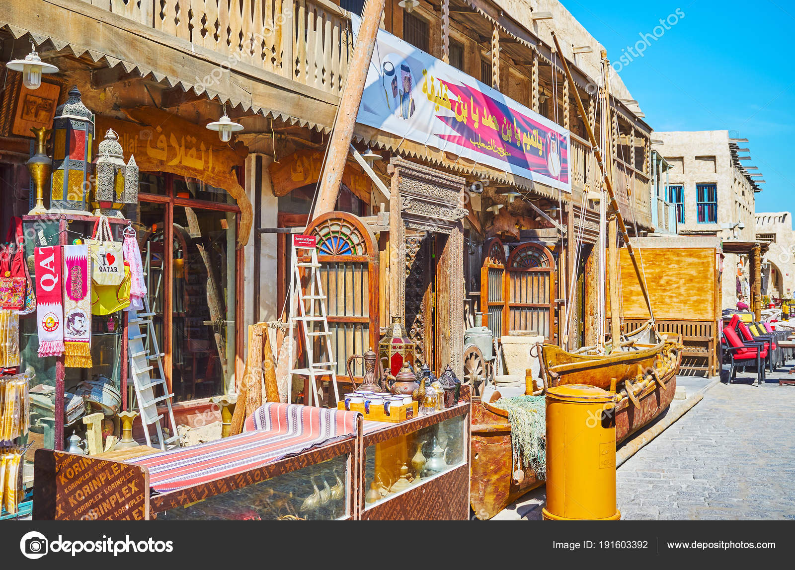 Antique store in Souq Waqif, Doha, Qatar – Stock Editorial Photo