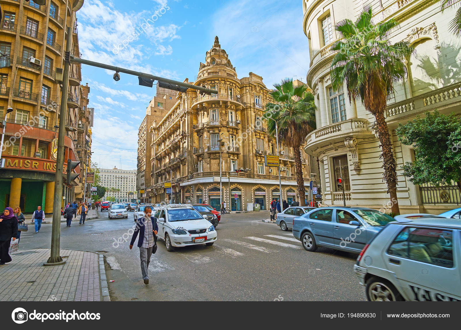 european streets of cairo egypt stock editorial photo efesenko