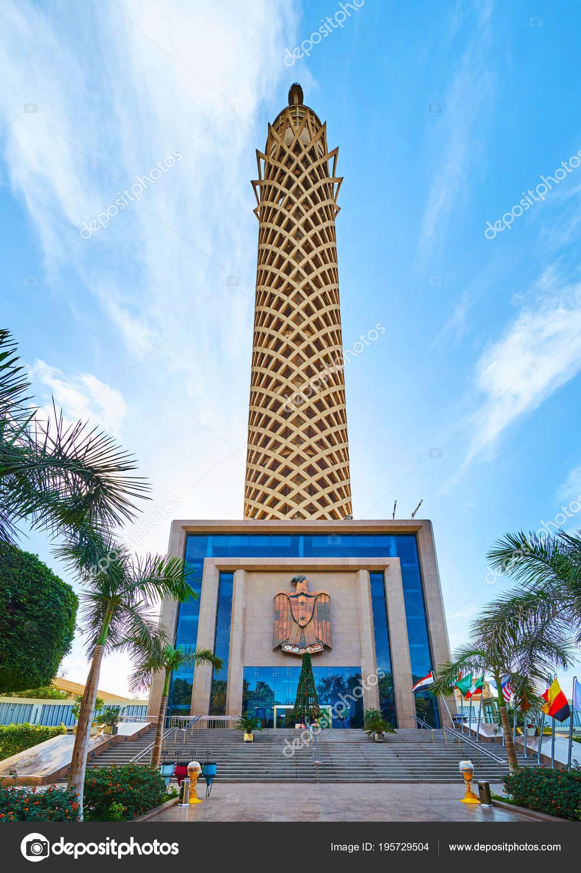 Torre do cairo egito ilha de gezira fotografia de for Cairo mobel