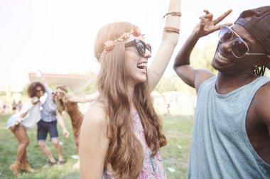 Joyful young and free people