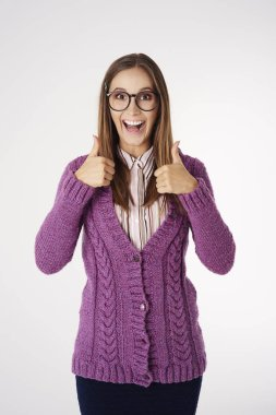 geek young girl
