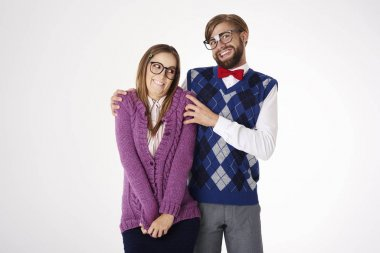 Funny couple of nerds
