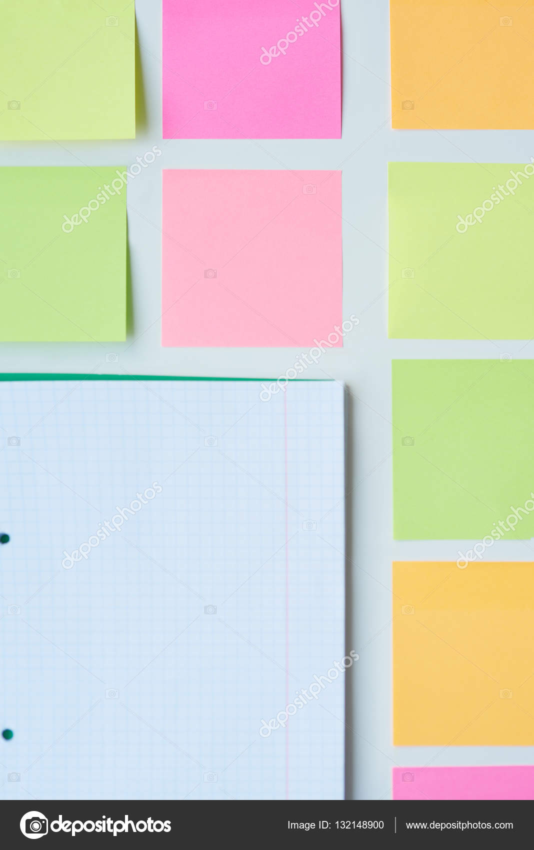 sticky notes in square shape stock photo gpointstudio 132148900