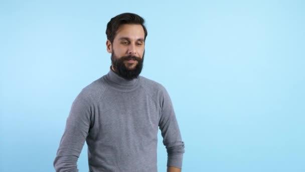 Portrait of handsome man at studio shot