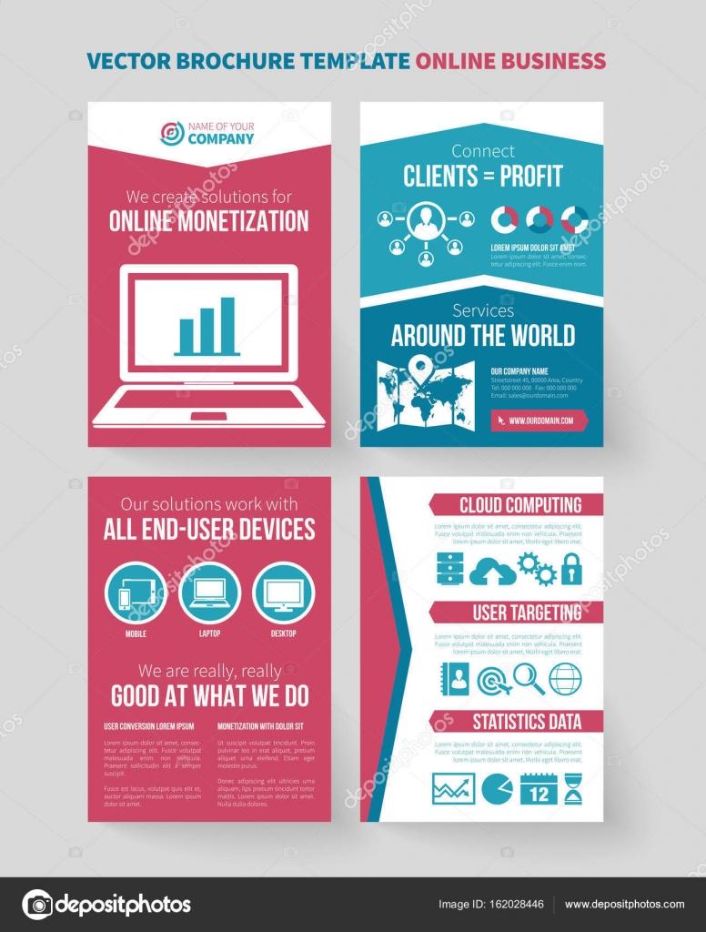 online business vector brochure template stock vector mikkolem