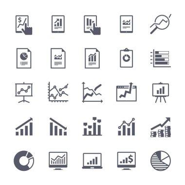 Business Graphs & Charts Icons Set 2 - Black Version