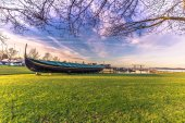 December 04, 2016: A viking longboat at the Viking Ship Museum o