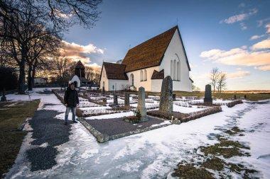Harkeberga - March 29, 2018: The medieval church of Harkeberga, Sweden