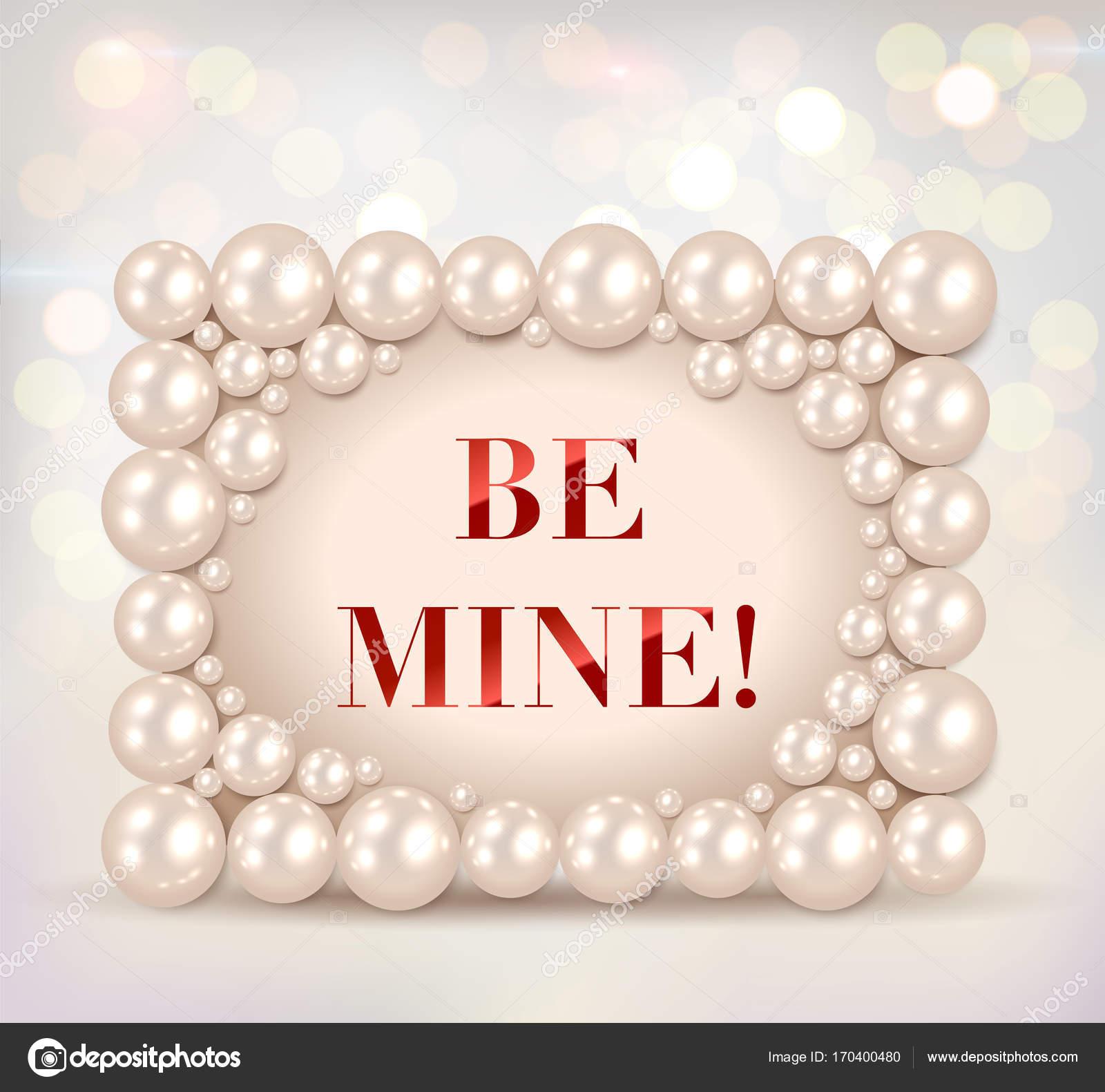 Glänzende Perlen Rahmen mit \