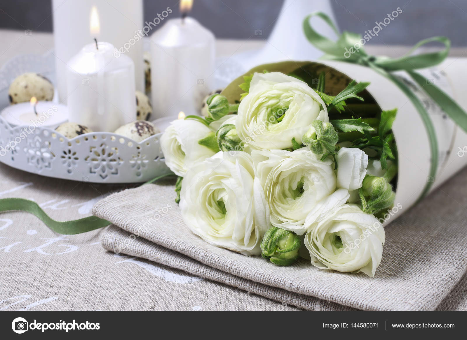 Bouquet of white ranunculus flowers stock photo agneskantaruk bouquet of white ranunculus flowers persian buttercup flowers photo by agneskantaruk mightylinksfo