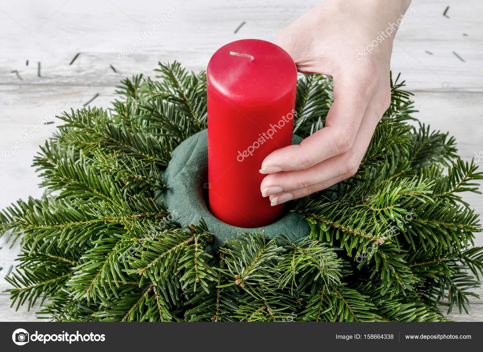 Como Hacer Centro De Mesa Navidad Con Abeto Rosas Bolas De Un - Como-hacer-centro-de-navidad