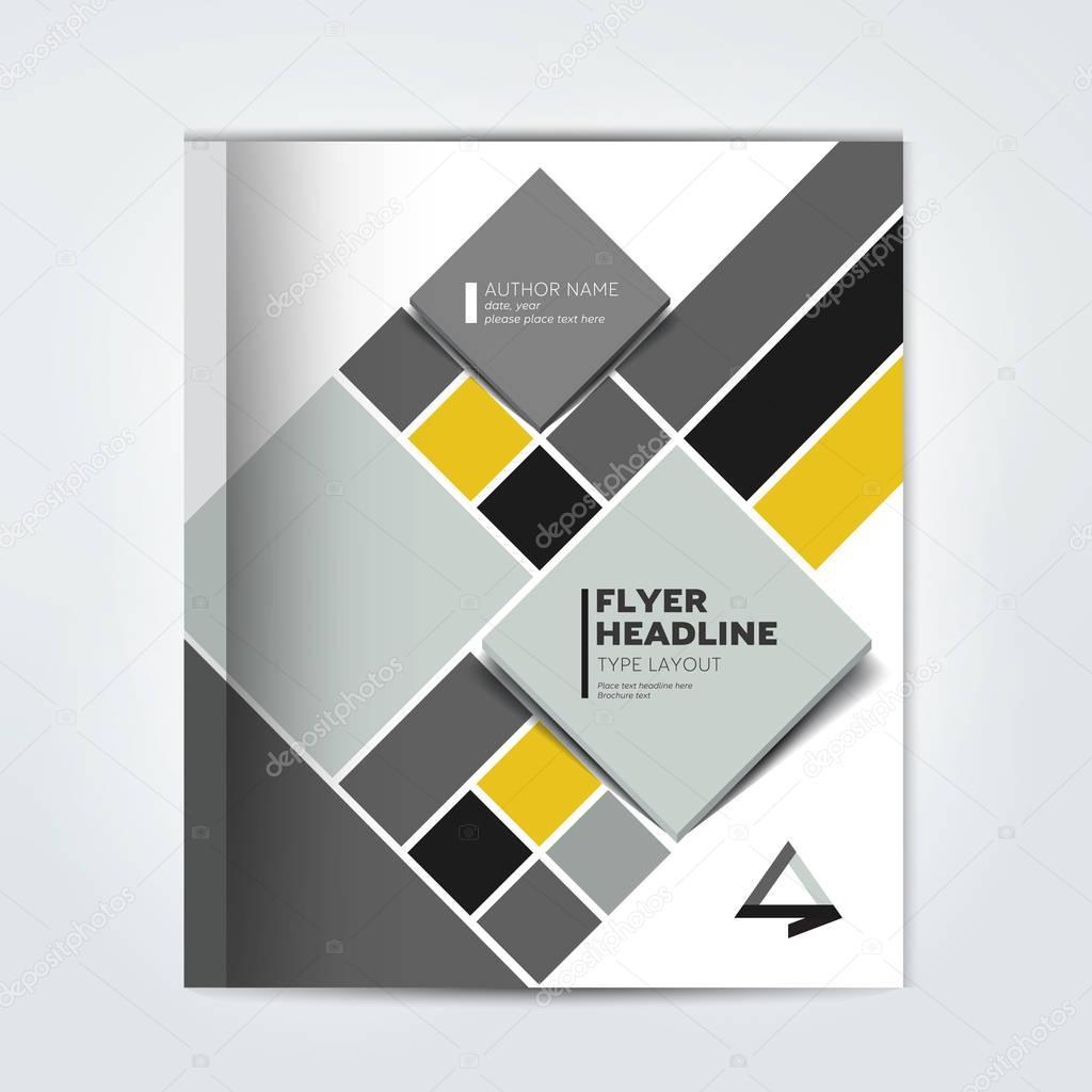 Capa da brochura de relatório anual, panfleto, folheto, apresentação ...