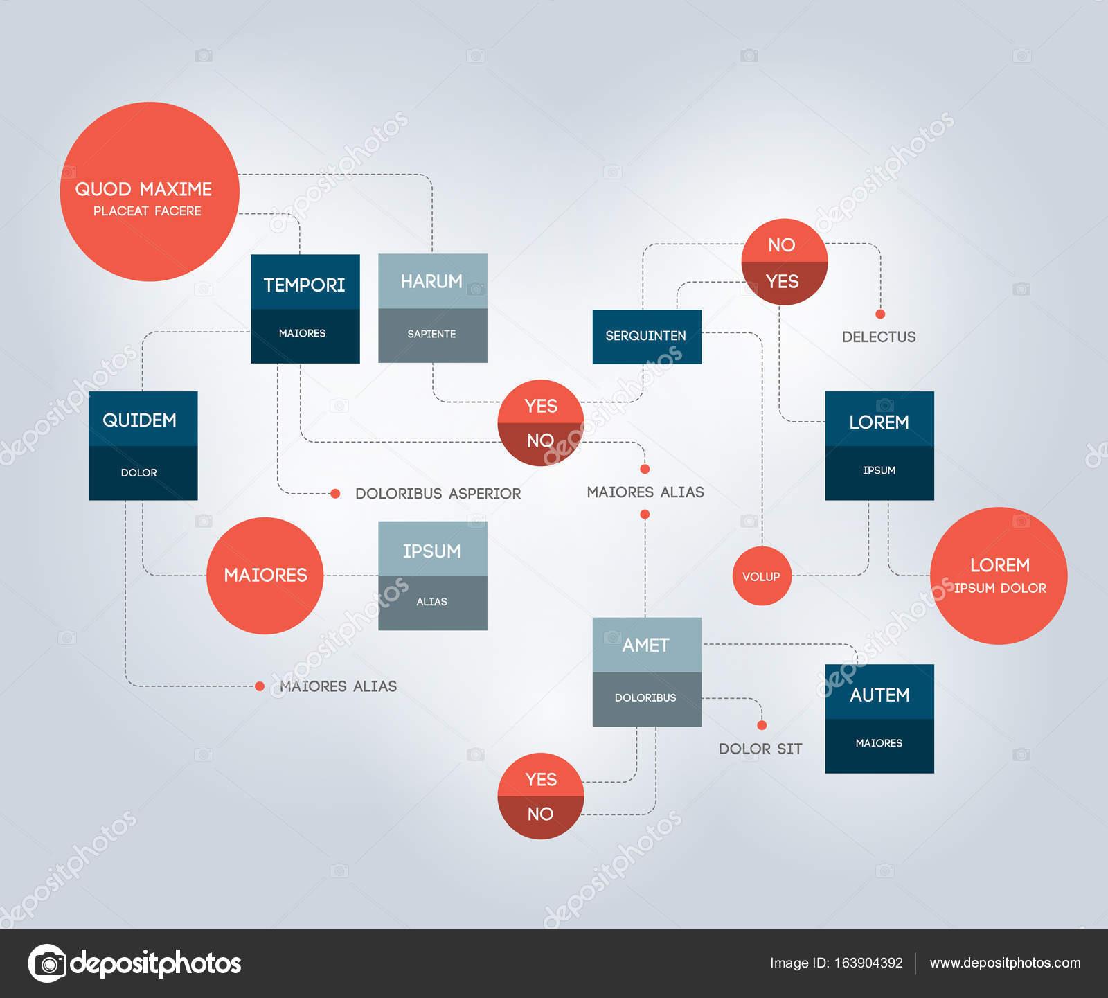 flowchart. template, scheme, diagram, infographic. — stock vector