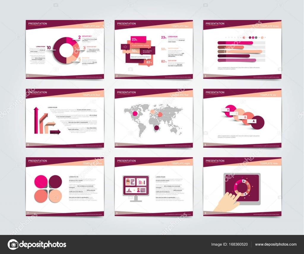 9 Unternehmen Präsentationsvorlagen. Infografiken für Broschüre ...
