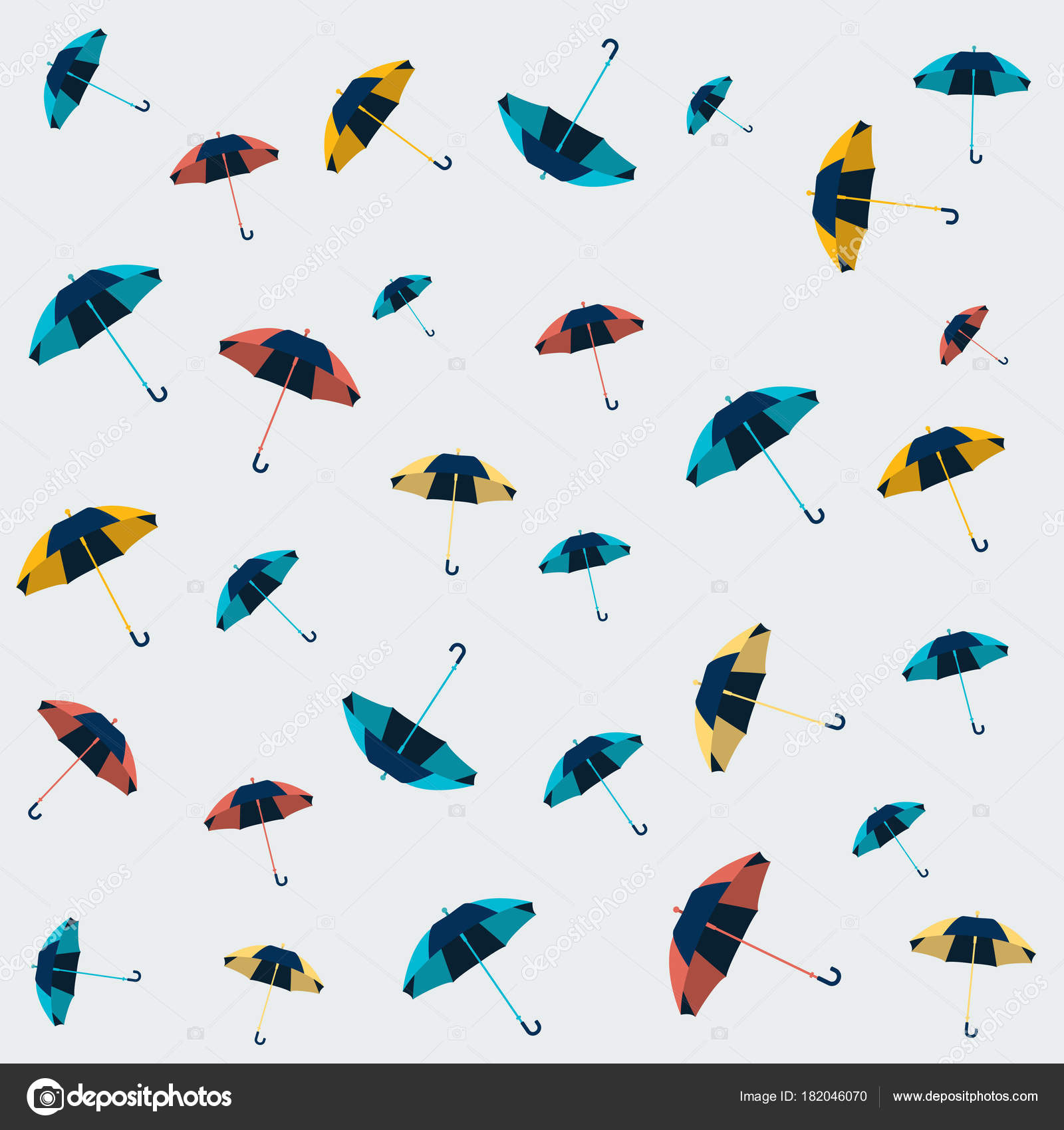 Umbrella Seamless Pattern Design Wallpaper Textile Background Stock Vector