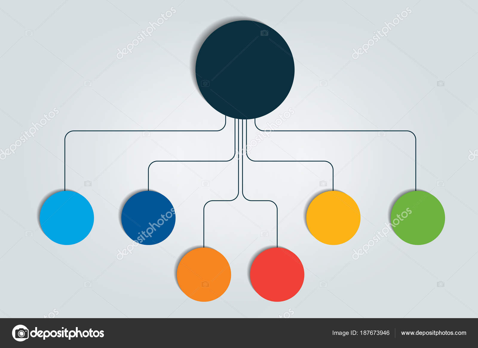 Mindmap Stroomdiagram Infographic — Stockvector © Kubko #187673946