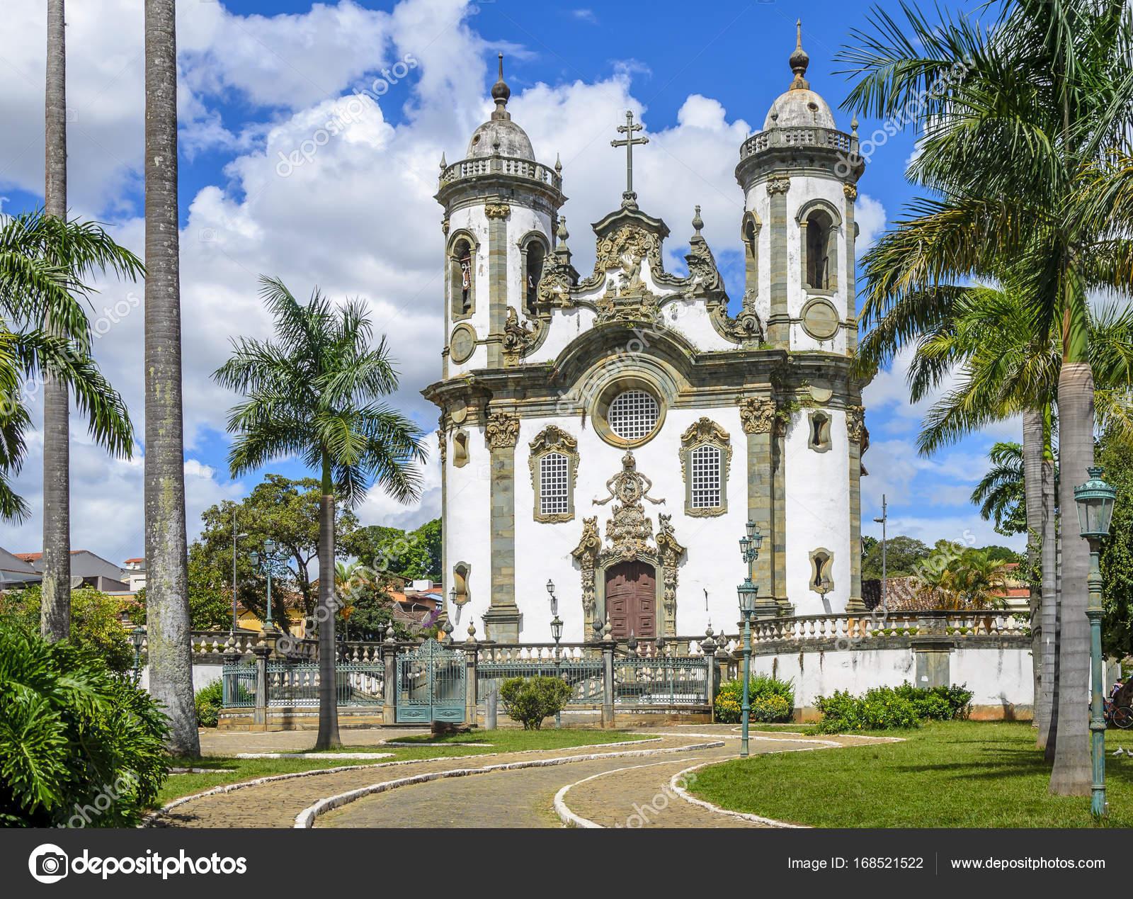 Sao Francisco Assis Church Sao Joao Del Rei Minas Gerais Stock