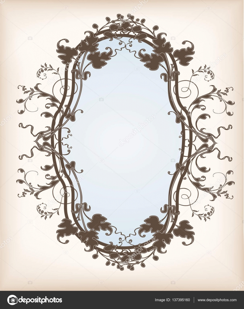Victorian Floral Frame Stock Vector