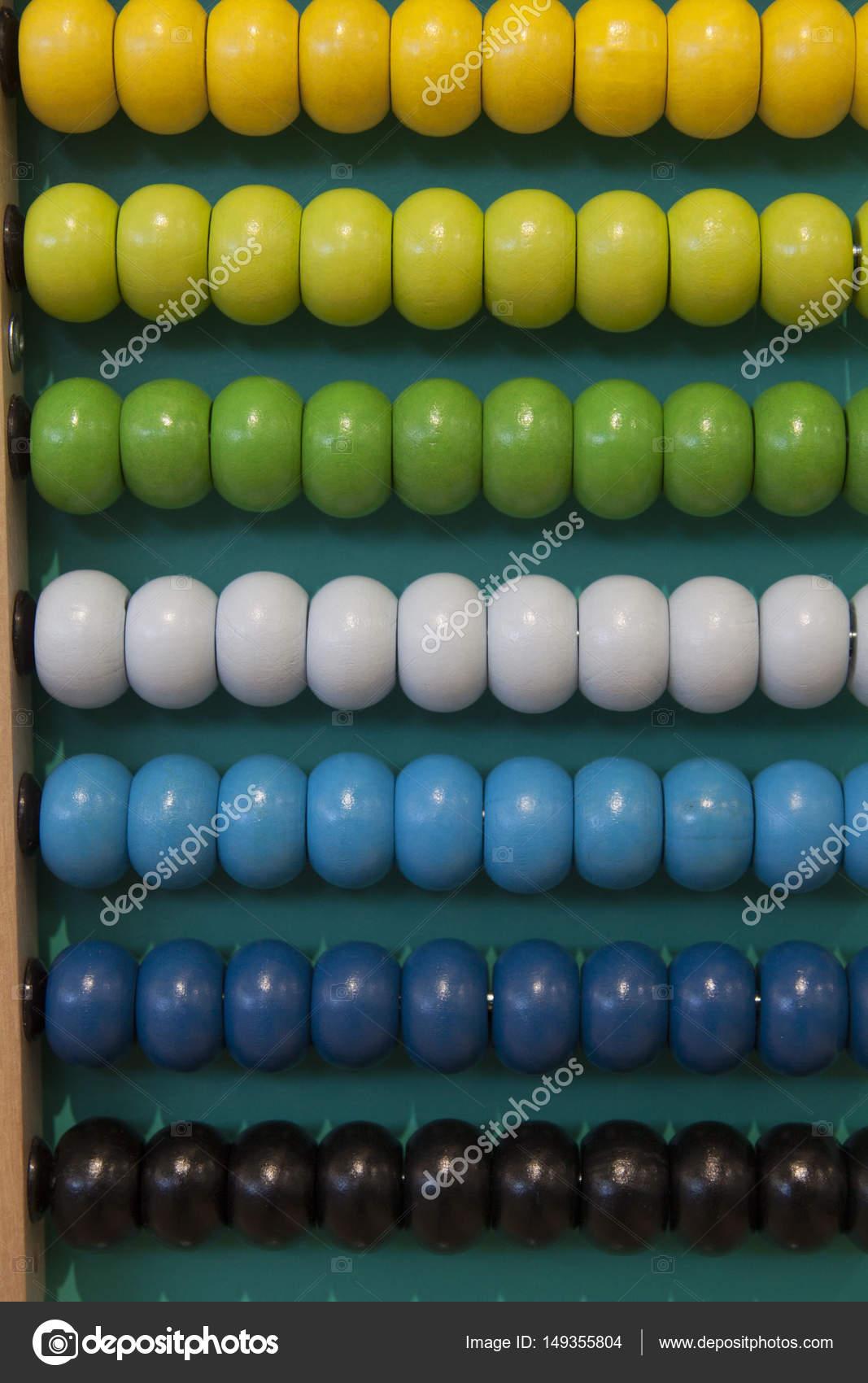 Colorido ábaco cuenta marco — Fotos de Stock © Mauvries #149355804
