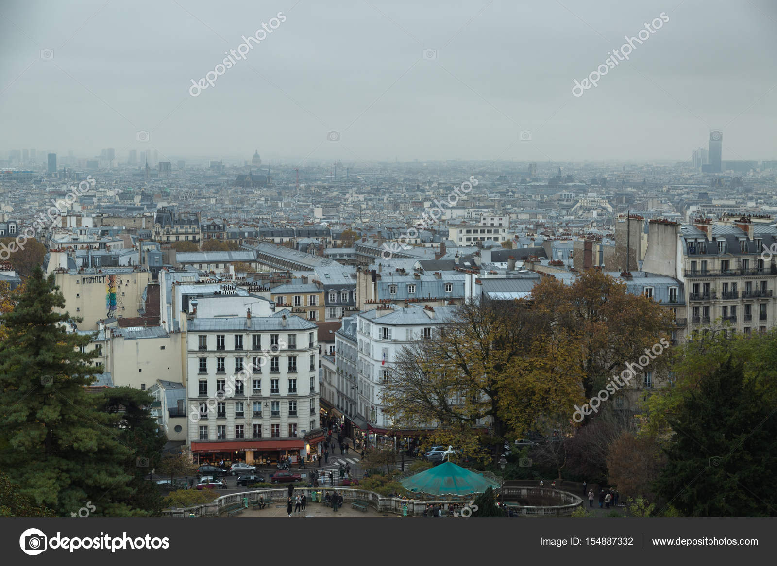 Panorama Of Paris From Montmartre The Well Known Bohemian