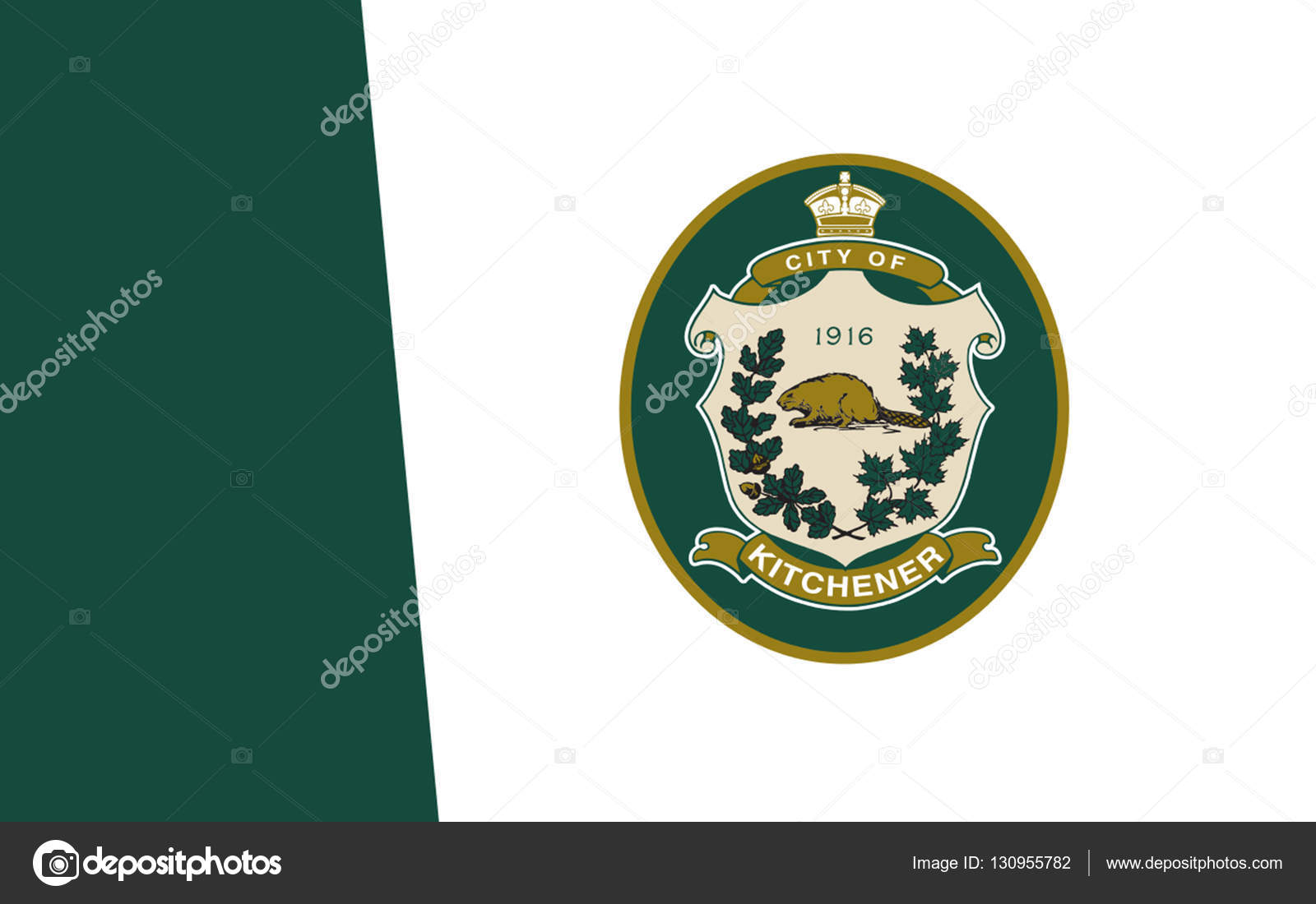 Flag of Kitchener Ontario, Canada — Stock Photo © zloyel #130955782