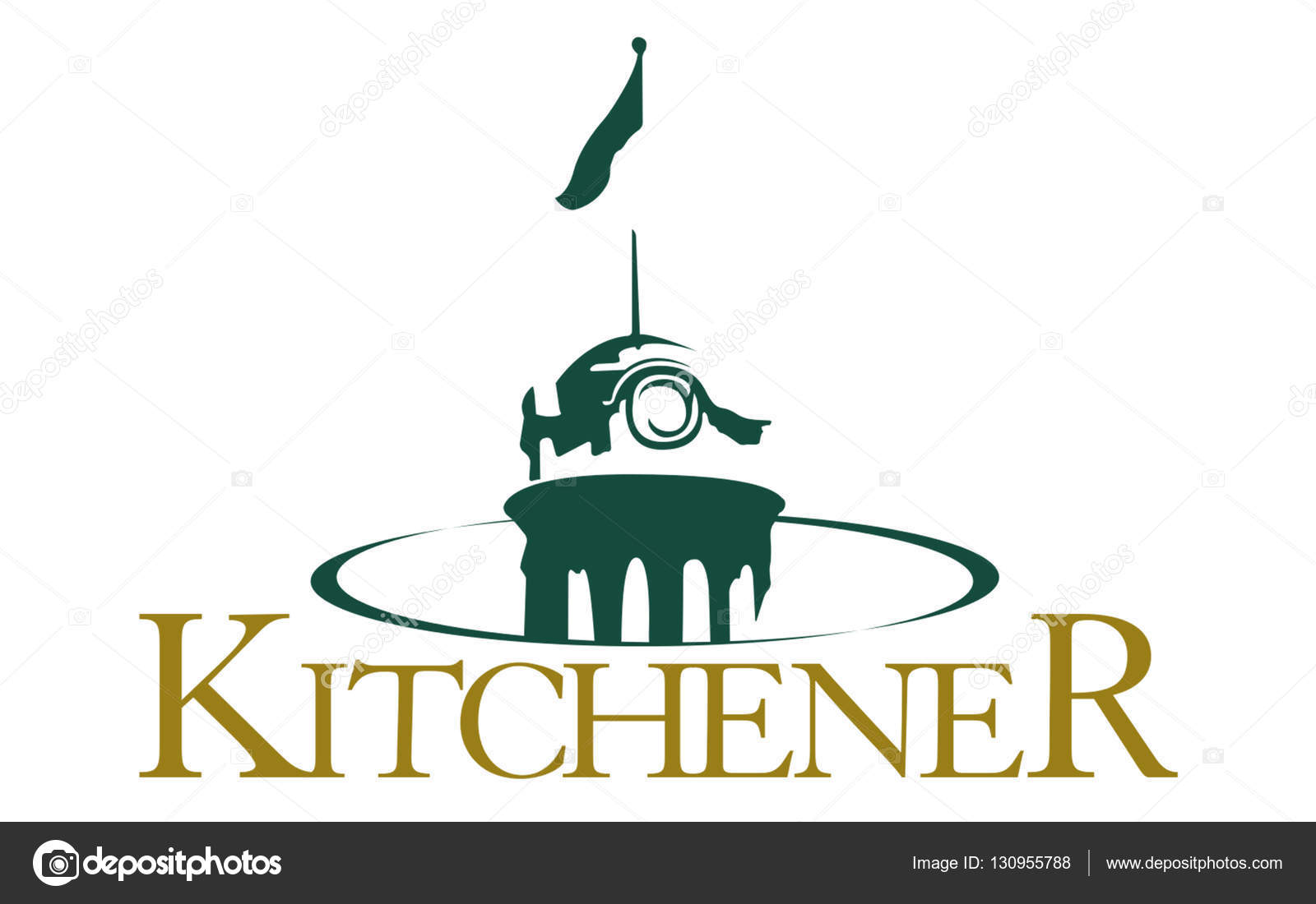 Flag of Kitchener Ontario, Canada — Stock Photo © zloyel #130955788