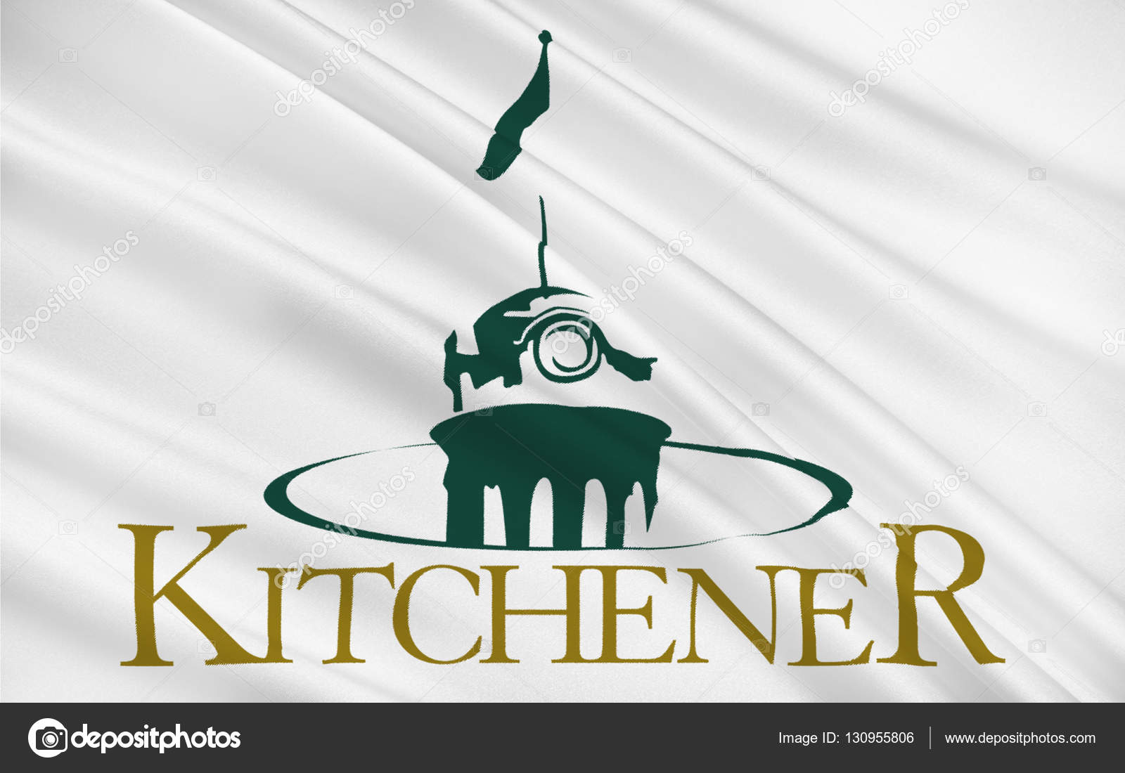 Flag of Kitchener Ontario, Canada — Stock Photo © zloyel #130955806
