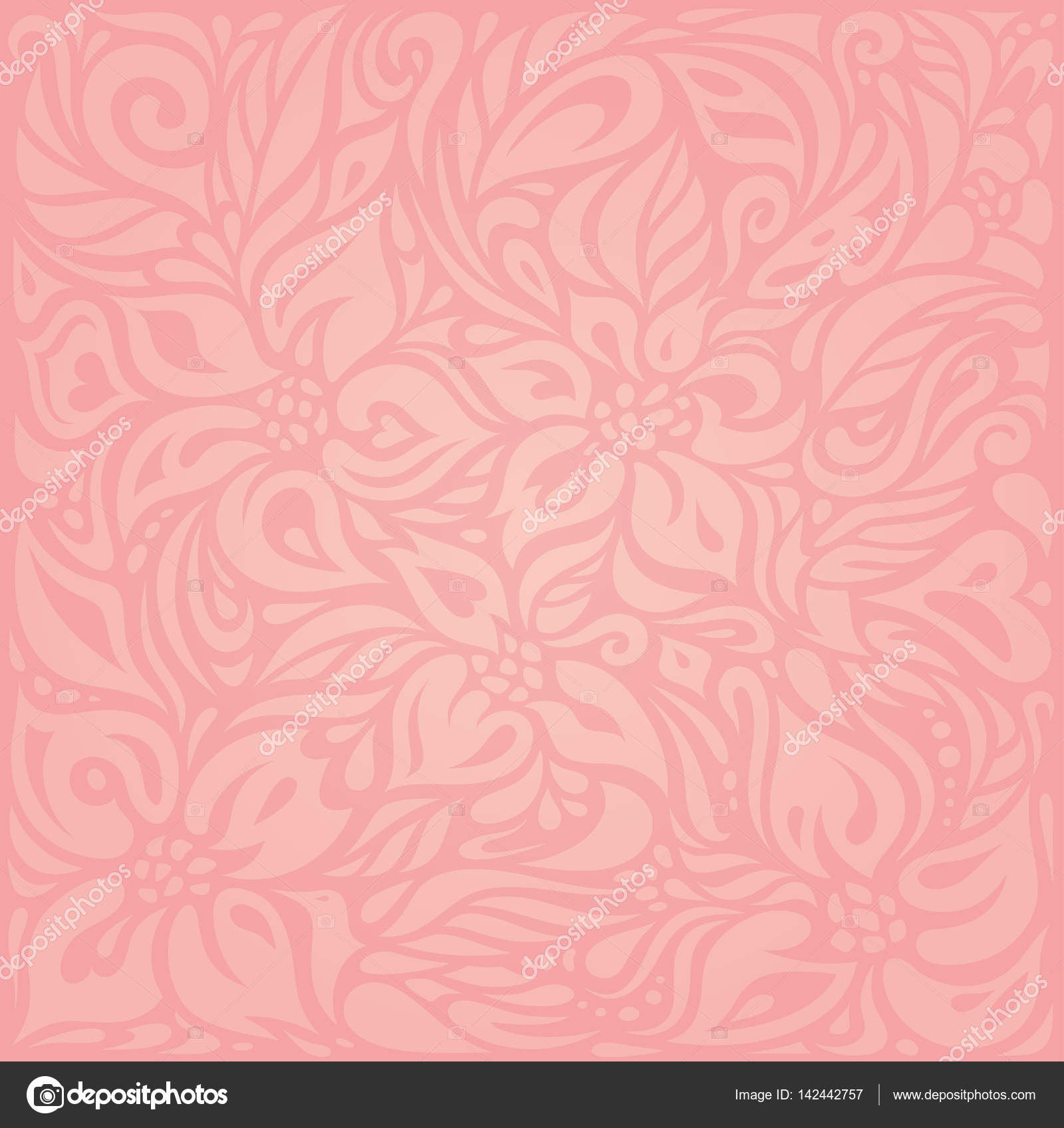 Floral Pink Vector Wallpaper Design Stock Vector C Erinvilar
