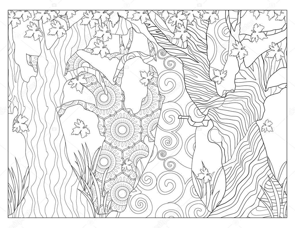 Malvorlagen Baum Muster — Stockfoto © smk0473 #128345008