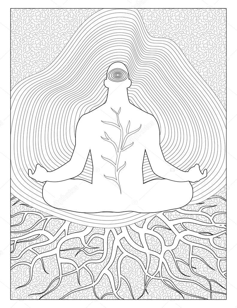 Página para colorear de tierra espiritual — Foto de stock © smk0473 ...