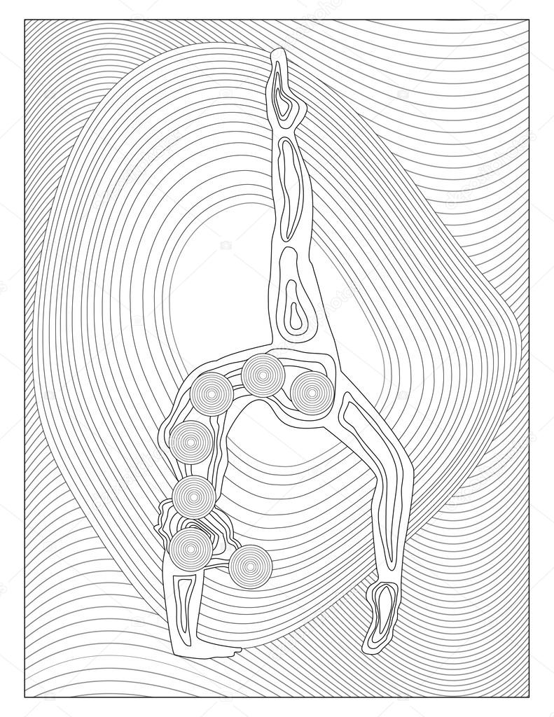 yoga chakra kleurplaat u2014 stockfoto smk0473 128345100