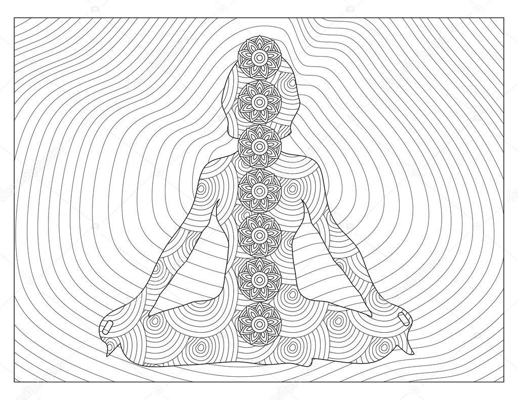 Yoga Chakren Malvorlagen Stockfoto Smk0473 128345104