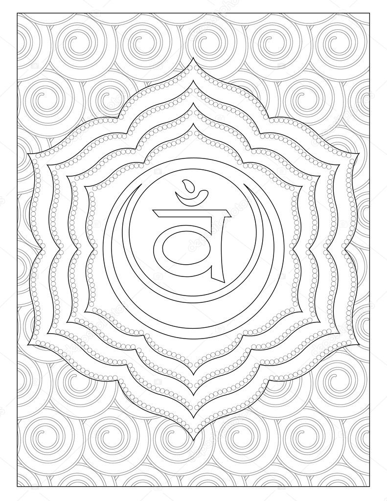 sacra chakra coloring page u2014 stock photo smk0473 128345208