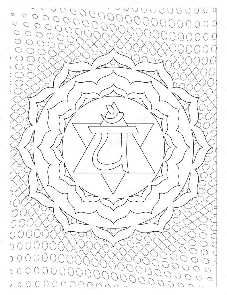 chakra symbols coloring pages - photo#12