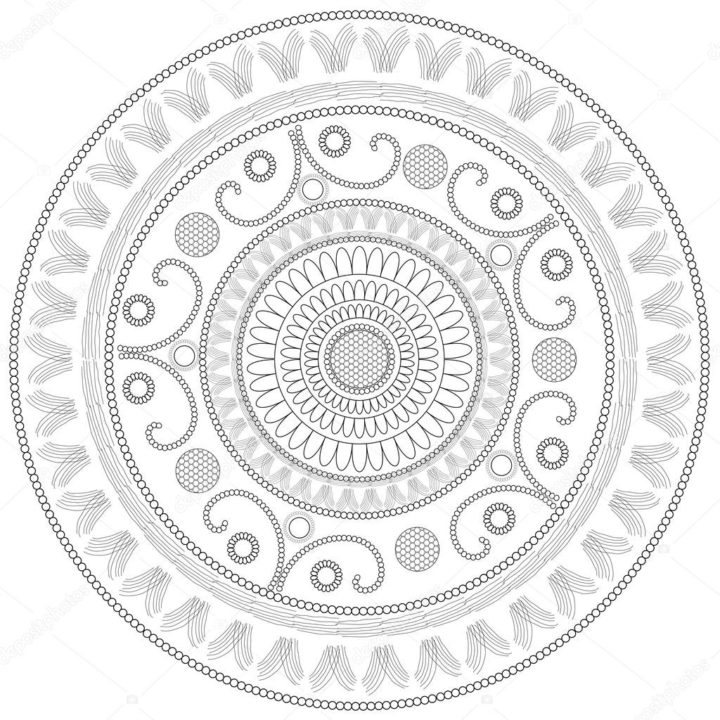 Circle pattern coloring page stock photo smk0473 for Circle pattern coloring pages
