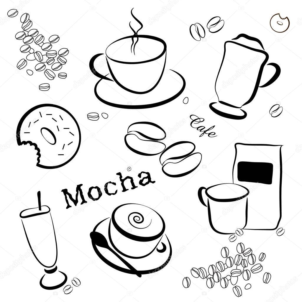 Kahve Arka Plan Boyama Sayfası Stok Foto Smk0473 128839702