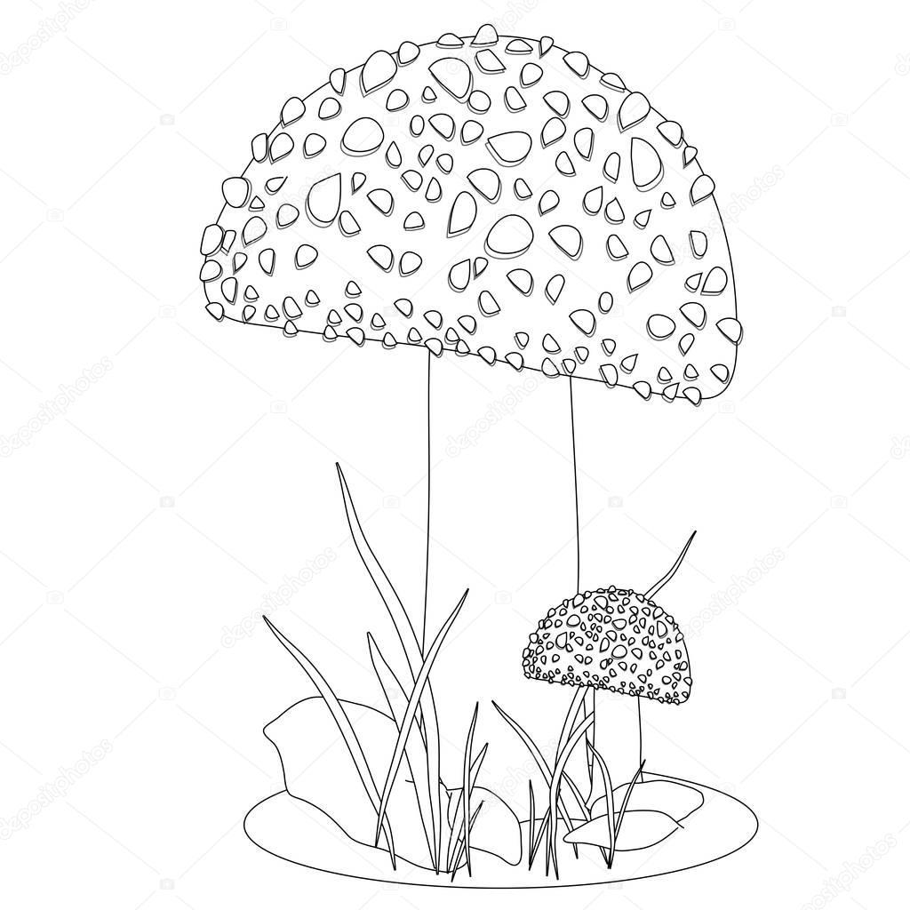 Mushrooms Coloring Page