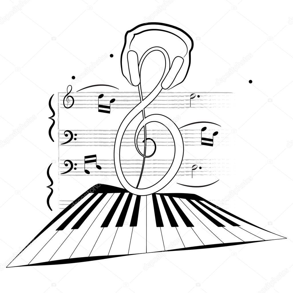Imágenes: notas musicales para colorear | Página de música para