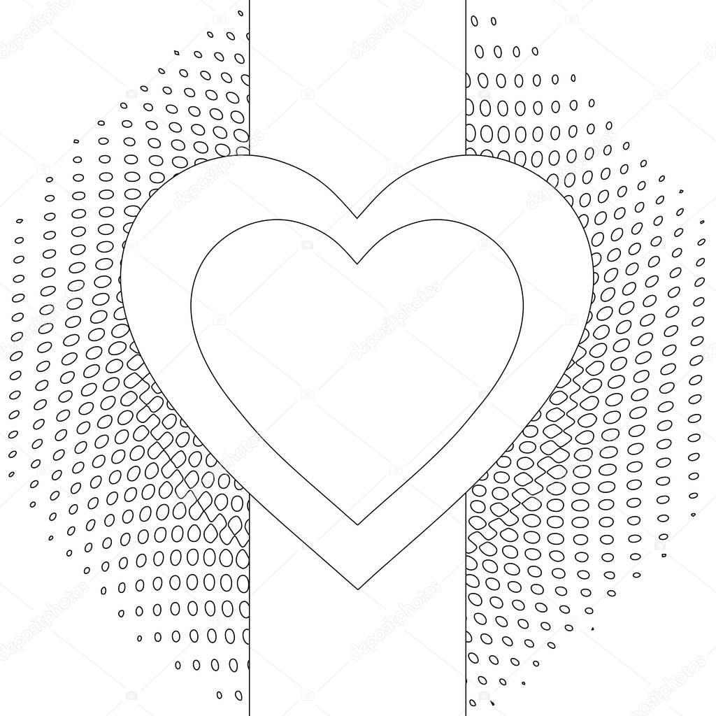 Soyut Kalp Boyama Sayfası Stok Foto Smk0473 128840136