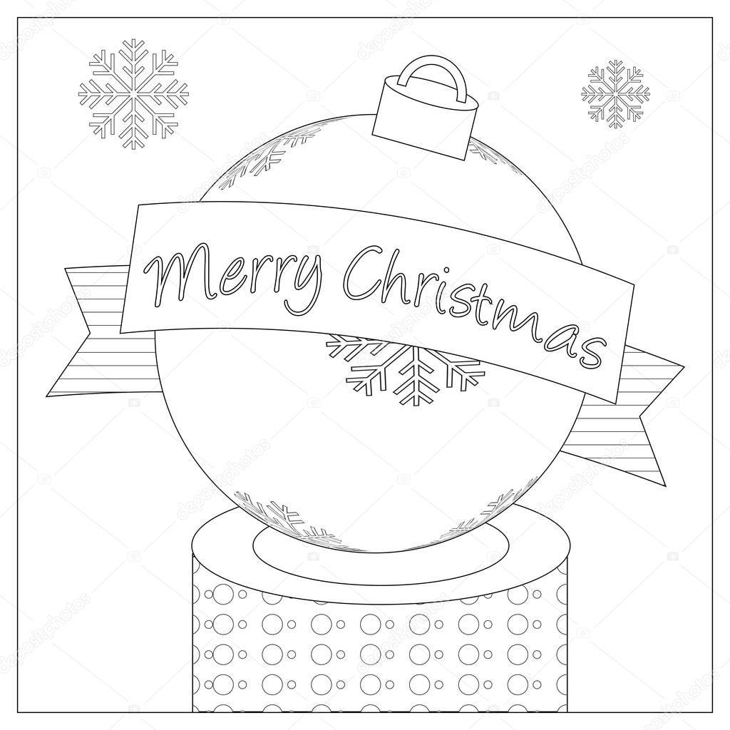 Christmas Bulb Coloring Page — Stock Photo © smk0473 #128846526