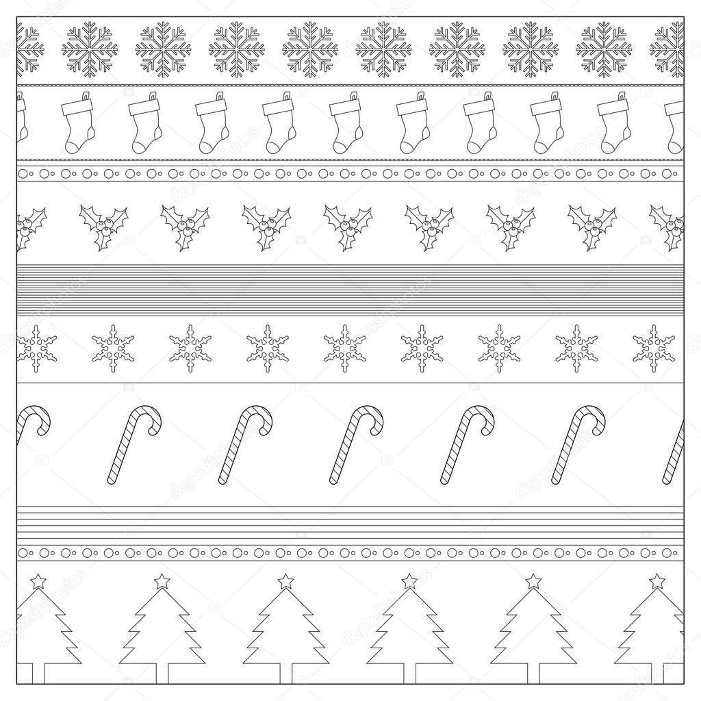 Christmas Background Wrapping Paper Coloring Page — Stock Photo ...